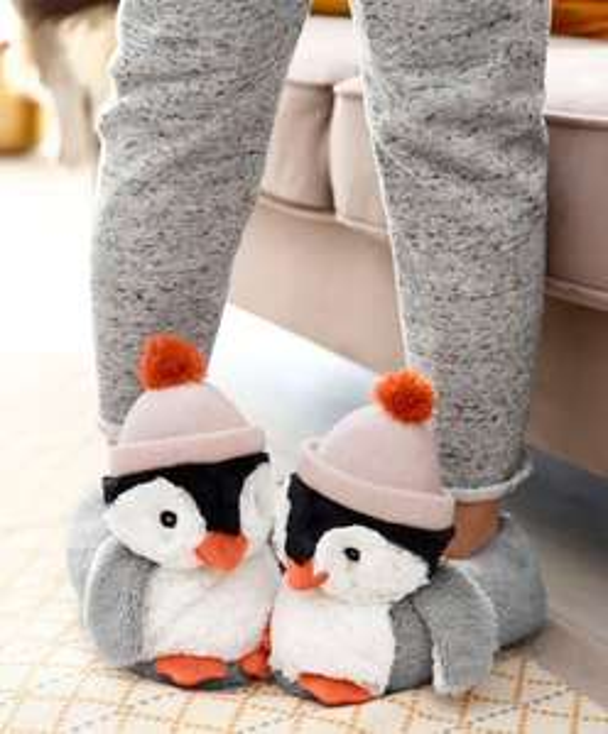 CITYWALK Hausschuhe Pinguin (Größen: 36/37, 38/39 & 40/41) für 9,94€