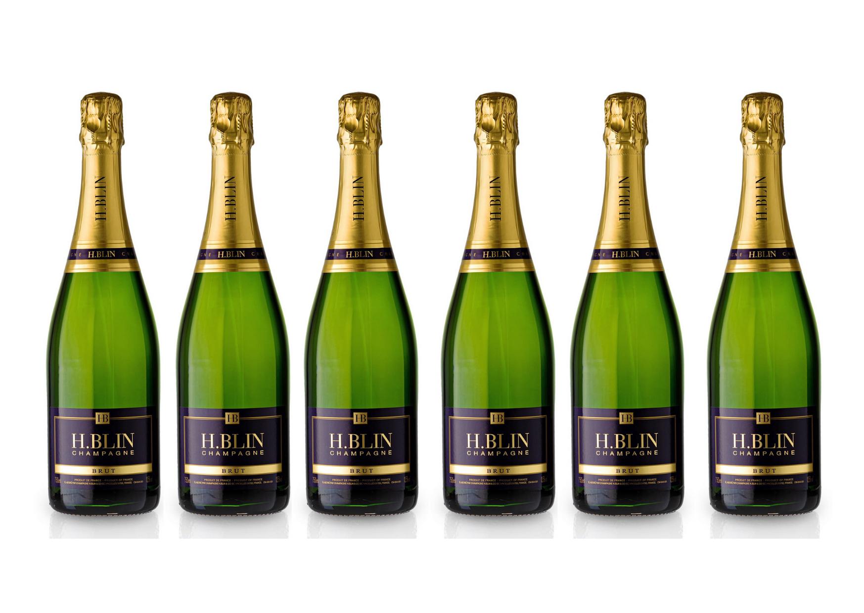 Champagner H.Blin Brut (91/100 Wine Spectator) aus dem Marnetal | 6x 0,75 L