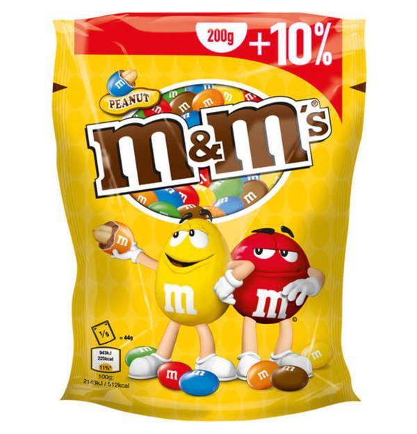 m&m's Peanut 330g+10% & m&m's Crispy 281g+10% bei Rewe und Rewe Center