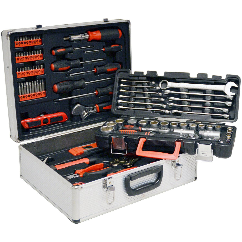 Vintec Metall Werkzeugkoffer / Werkzeugset 96-teilig universal