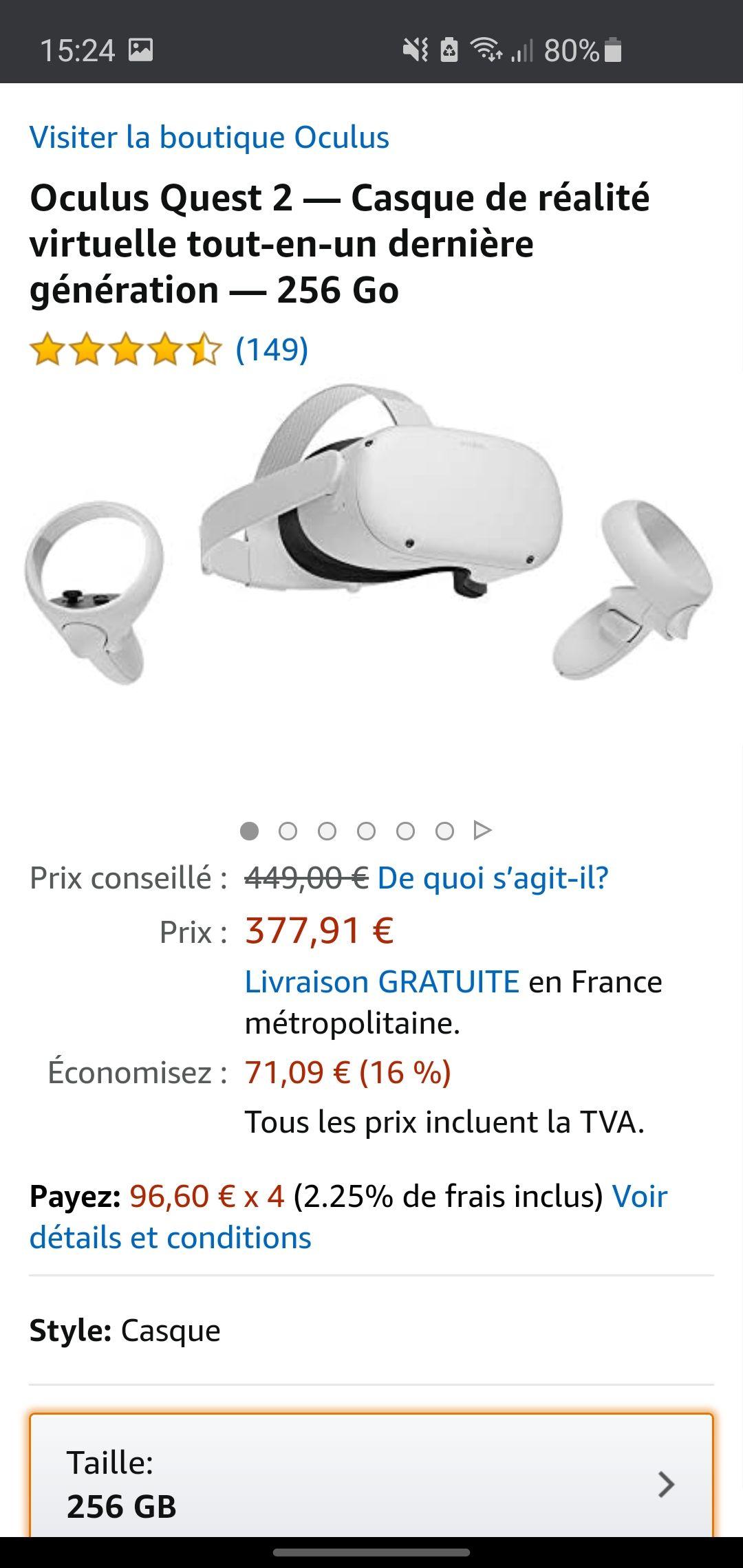 Oculus quest 2 256go