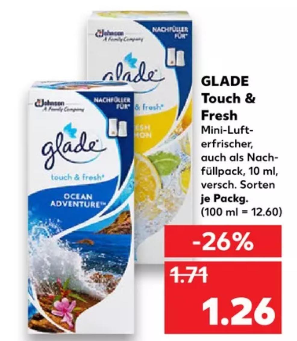 [Kaufland Do-Mi] 3x Glade Touch & Fresh Lufterfrischer mit Coupon für 1,78€ (Stückpreis = 0,59€)