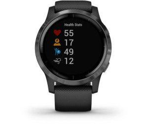 GARMIN Vivoactive 4 Smartwatch Edelstahl Silikon, k.A., Schwarz/Schiefergrau [Mediamarkt]