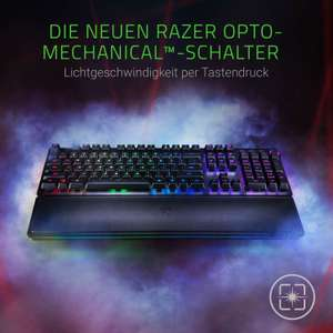 Razer Huntsman Elite - Mechanical Gaming Keyboard (Premium-Tastatur mit Clicky Opto-Mechanischen Schaltern [Amazon]