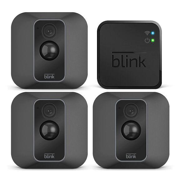Blink XT2-3 Smarte Sicherheitskamera für den Außen- und Innenbereich Dreierpack [MediaMarkt]