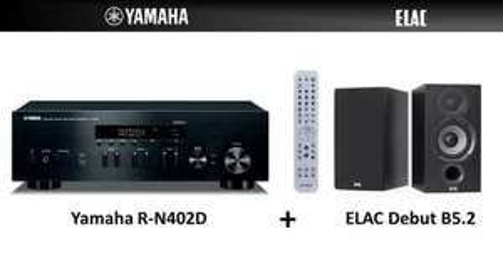[MediaMarkt] Yamaha Stereo Receiver R-N402D + Regallautsprecher Elac Debut B5.2
