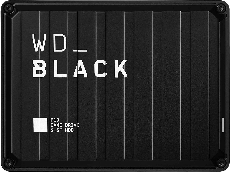 Western Digital WD_Black P10 Game Drive externe Festplatte 4 TB (mobile & robuste High-Perfomance-Festplatte, für Konsole & PC)