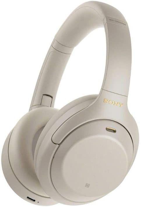 Sony WH-1000XM4 Noise Cancelling Kopfhörer (30h Akku, NFC, ANC, Bluetooth 5.0, Trageerkennung, Touch, Schnellladefunktion, USB-C) silber