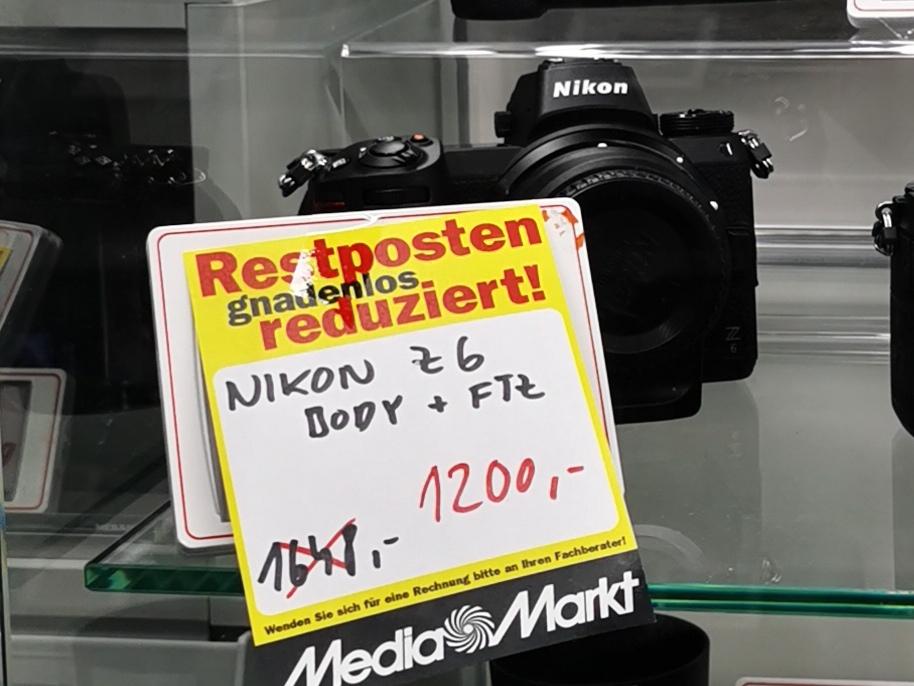 [Lokal Landkreis Mahnheim] MediaMarkt Foto-Sammeldeal. zB. Nikon Z6 1034,48€. Siehe Beschreibung