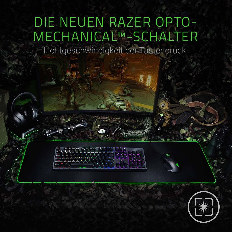Razer Huntsman Mechanische Gaming Tastatur (mit Opto-Mechanical Schaltern, Lebensdauer von 100 Millionen Tastenanschlägen [Amazon]