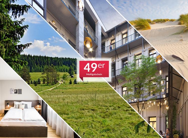 Animod 1-Nacht Hotelgutschein für 1 Nacht inkl. Frühstück für 2 Personen in über 50 Hotels (3 Jahre gültig!) für 49,98€