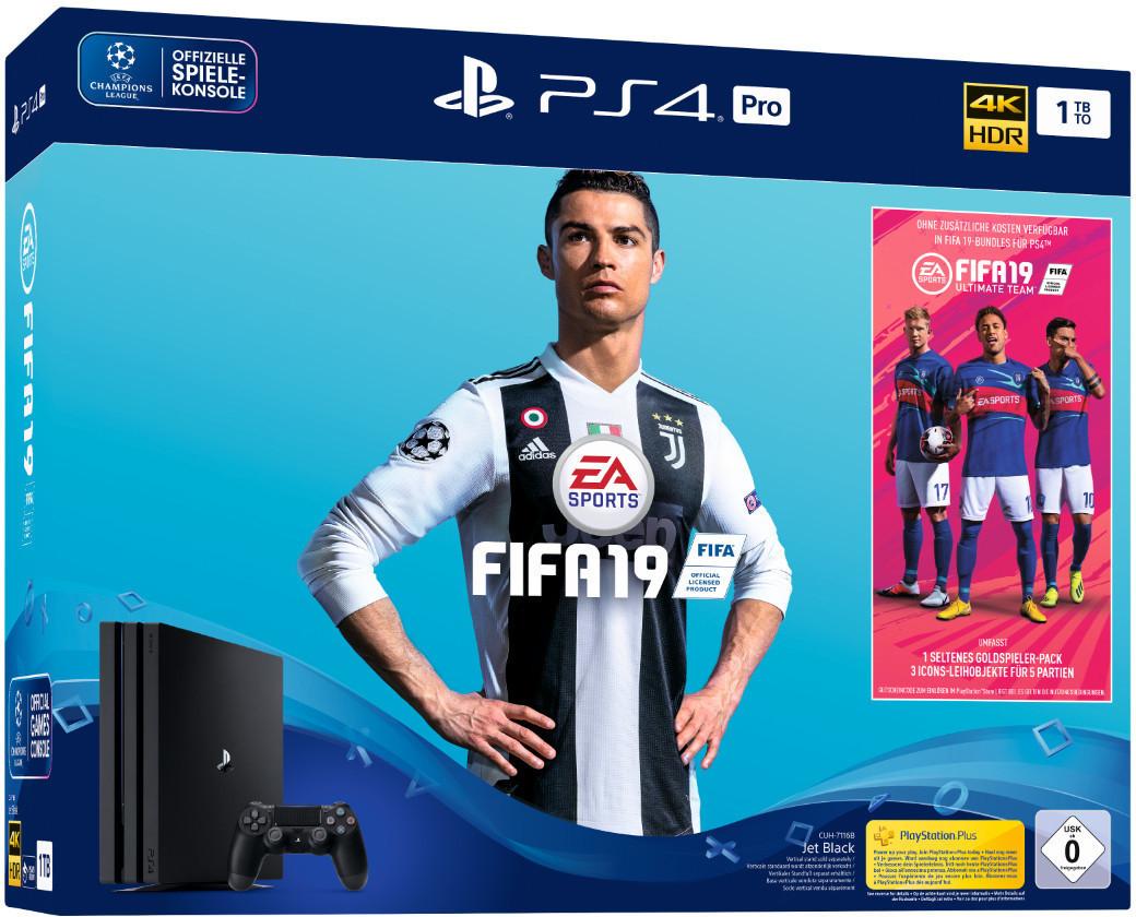 Sony PlayStation 4 Pro 1TB (CUH-7116B) + FIFA19