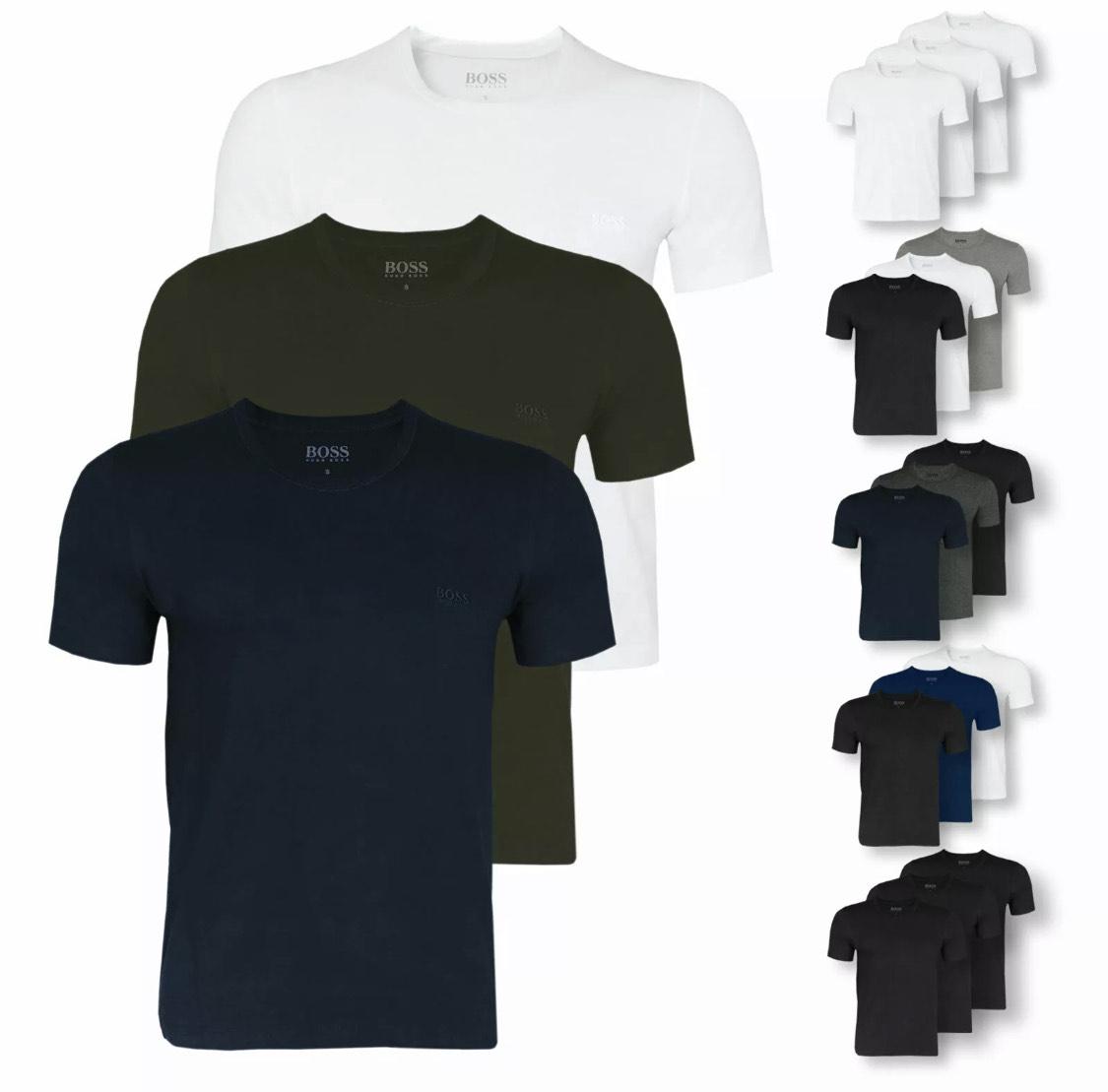 Hugo Boss Herren T-Shirts 3er Pack C und V-Neck