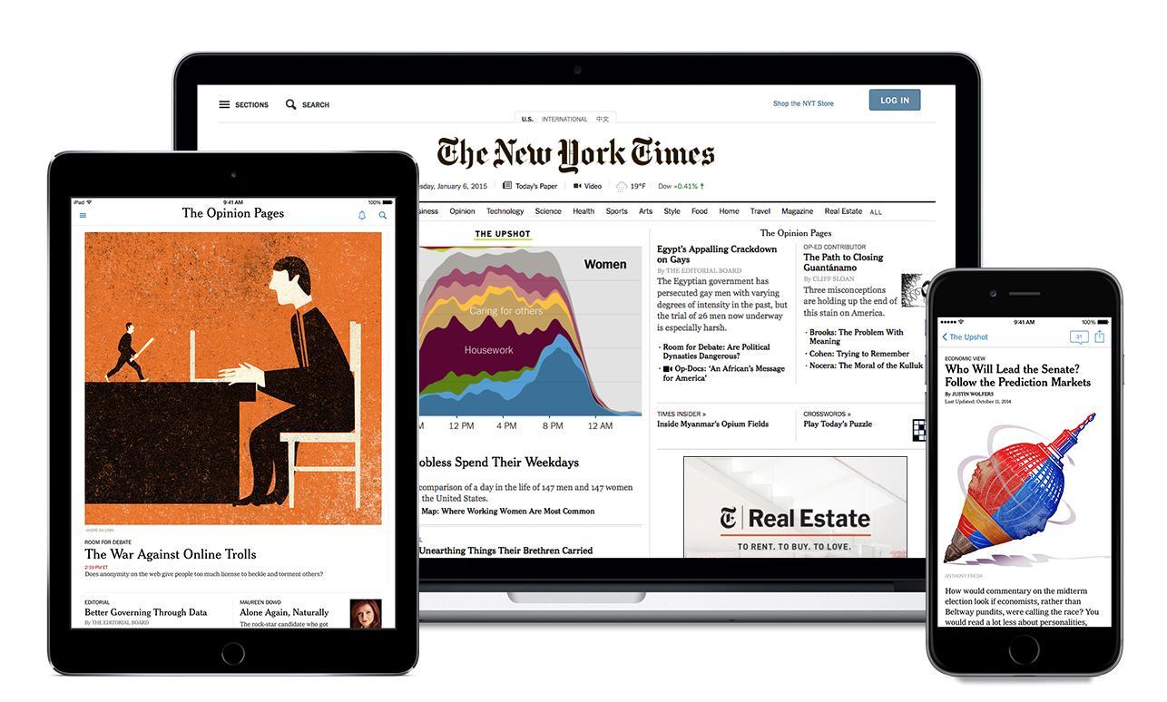 New York Times Digital: 1 Jahr für 11,05€ bzw. 0,85€/4 Wochen [VPN Brasilien] = 0,22€/Woche