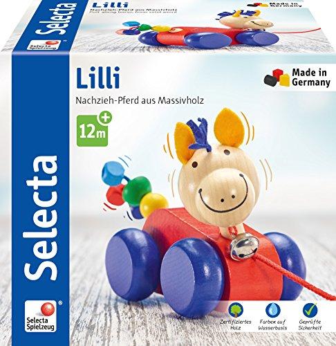 [Amazon oder Thalia] Selecta 62025 Lilli, Nachzieh Pferd, Schiebe-und Nachziehspielzeug aus Holz, 12 cm