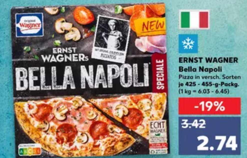 [Kaufland Do-Mi] Ernst Wagners Bella Napoli Pizza mit Coupon für 1,74€