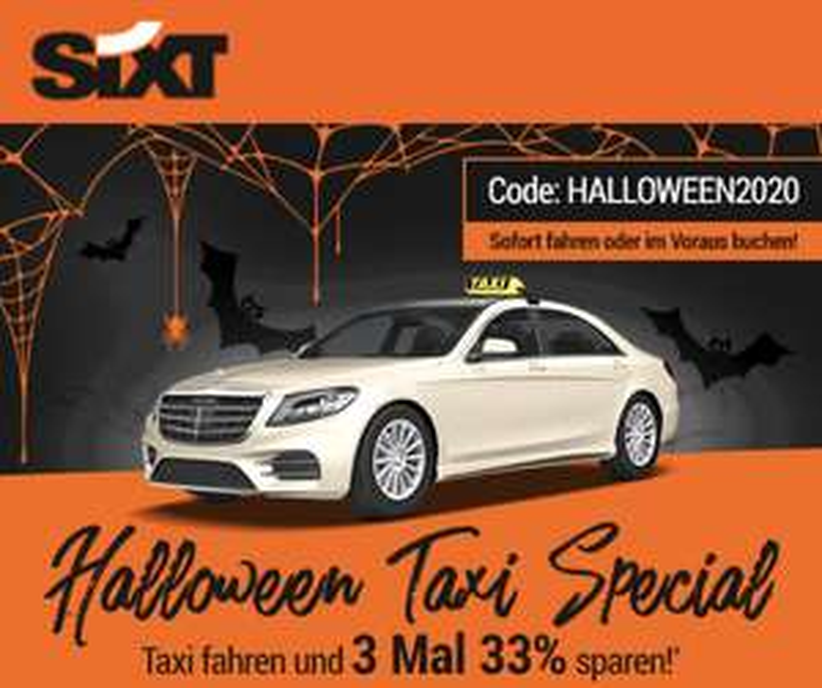 SIXT Ride / Taxi - 3x 33% Rabatt Gutschein (auch Bestandskunden)