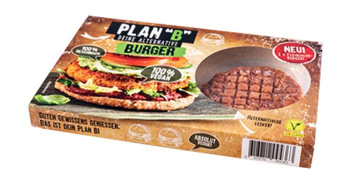 """[Netto MD] Plan """"B"""" Burger (2x 113.5g, 100% vegan, auf Basis von Weizengluten mit Bohnen- und Erbsenprotein, sojafrei) für nur 1,58€"""