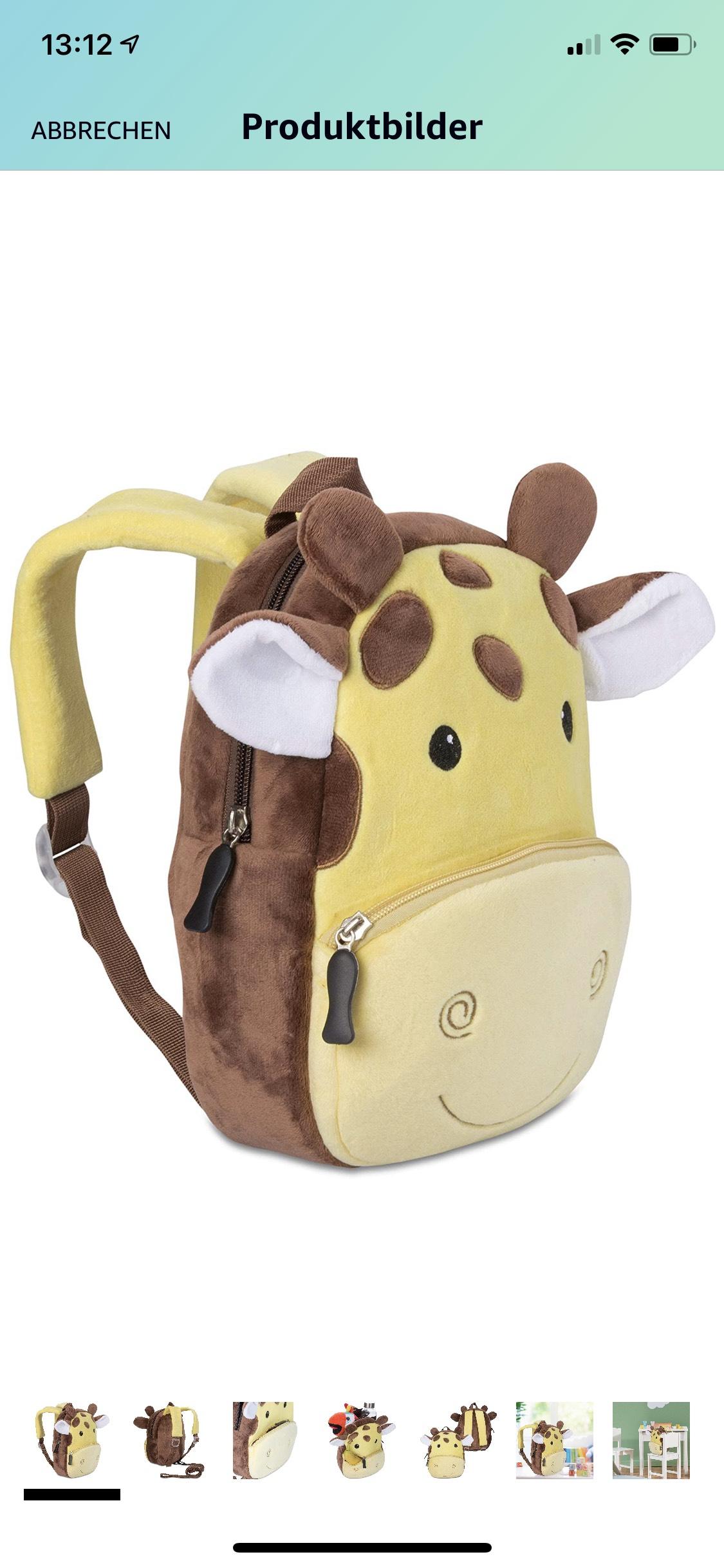 [Prime] Kinderrucksack für Kleinkinder Kindergarten Rucksack für Kinder, Tier-Motiv, 1-4 Jahre