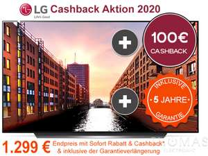 LG OLED55CX8 mit 5 Jahre Garantie! (1299€ durch Cashback)