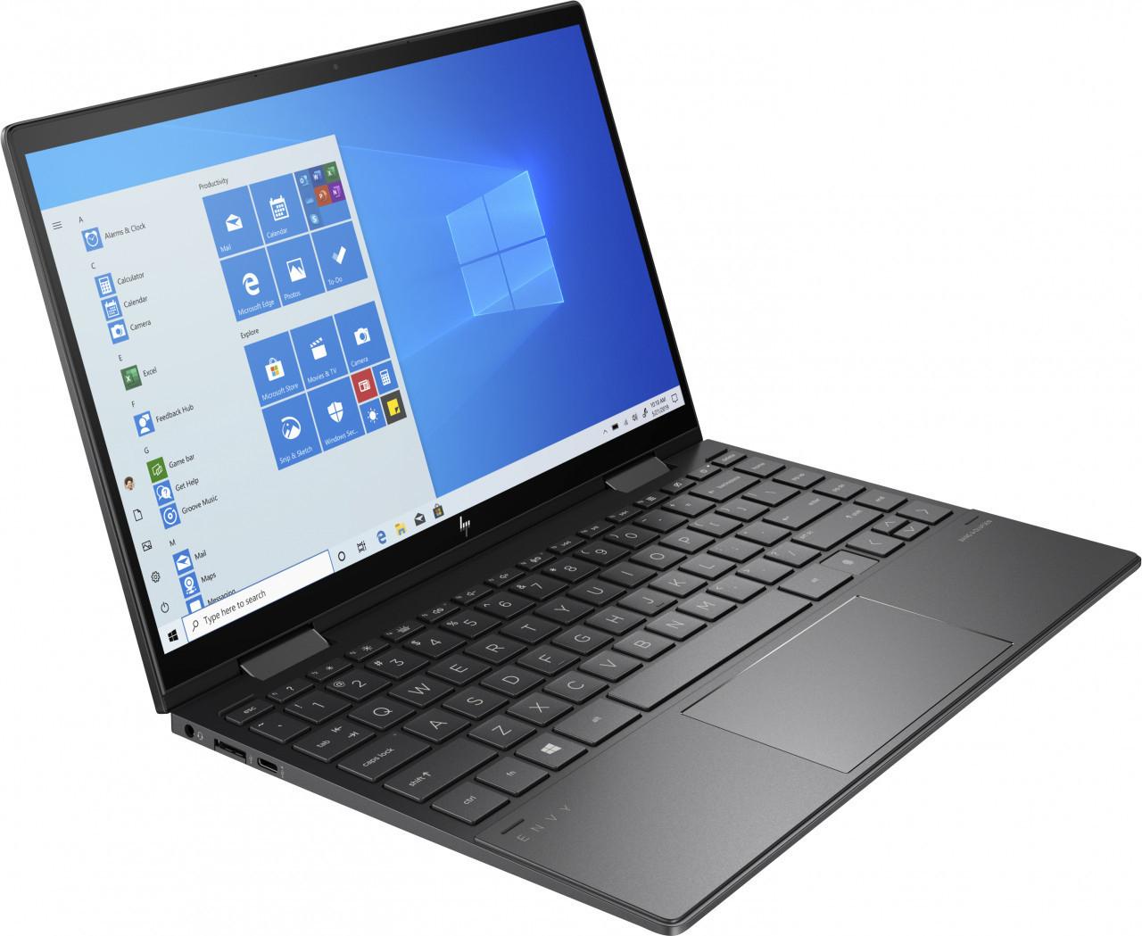 HP ENVY x360 13-ay0359ng mit 13,3 FHD IPS Touch 300cd/m², AMD Ryzen 5 4500U, 8GB RAM, 1TB SSD, Fingerprint, USB-C, Tastatur Bel., Win10