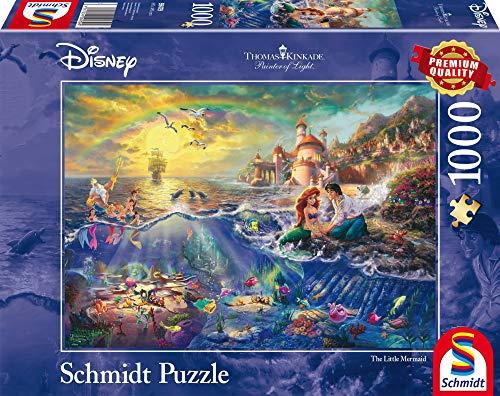 [Amazon Prime] Schmidt Spiele 59479 Thomas Kinkade, Disney Kleine Meerjungfrau, Arielle, 1.000 Teile, Puzzle
