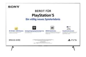 Sony XH90 9005 / 9077 HDMI 2.1 LED TV (Flat, 55 Zoll / 139 cm, UHD 4K, SMART TV, Android TV) (65, 75, 85)