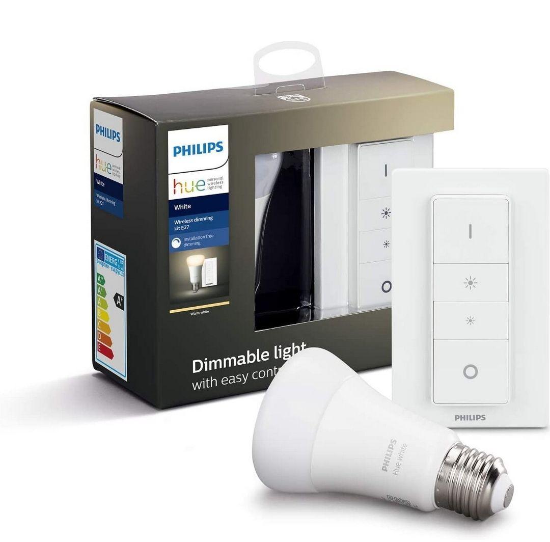 Philips Hue White E27 LED Wireless Dimming Kit