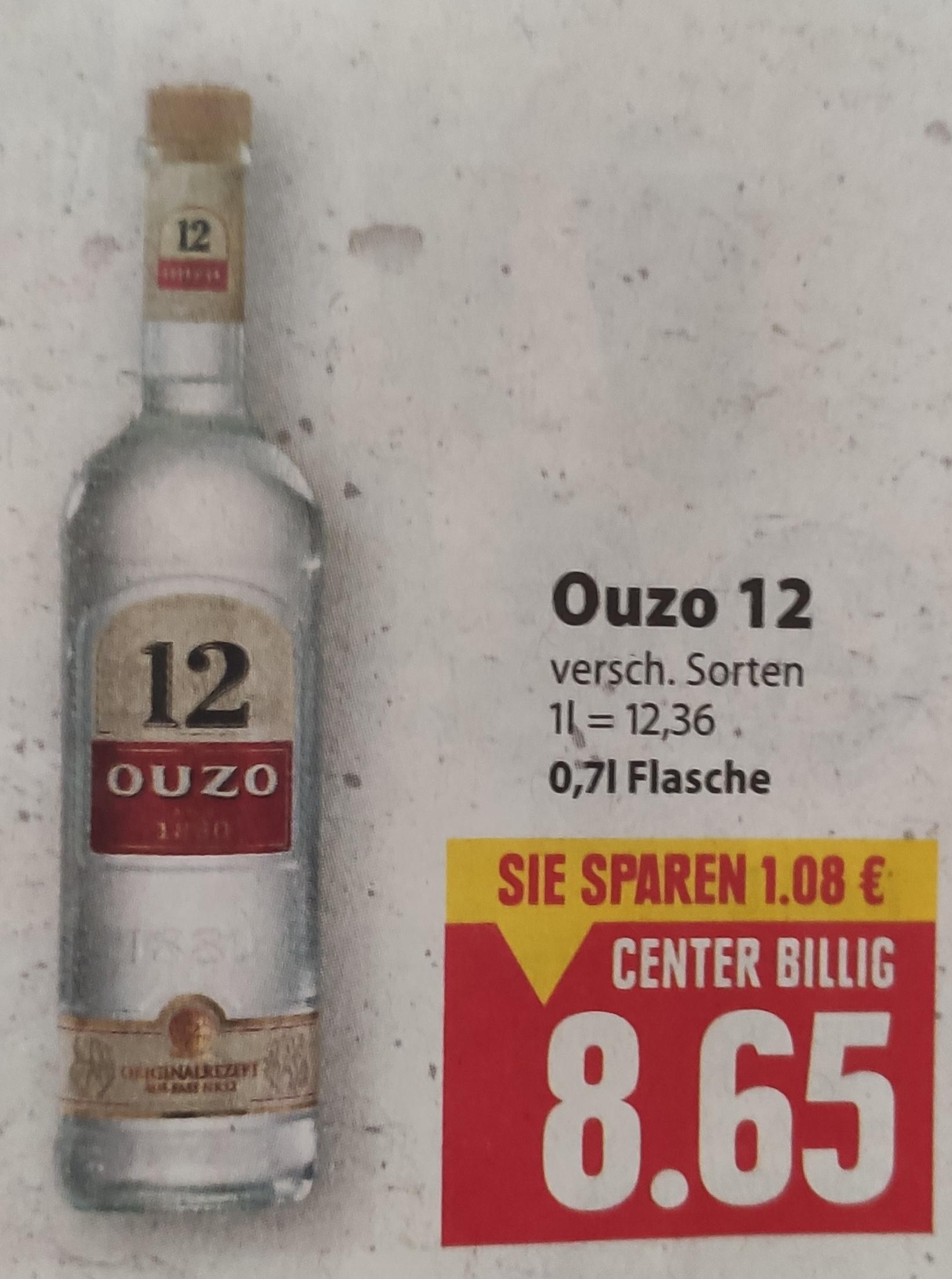 [Edeka Center Minden-Hannover] Ouzo 12 oder Ouzo 12 Gold mit Coupon für 7,65€