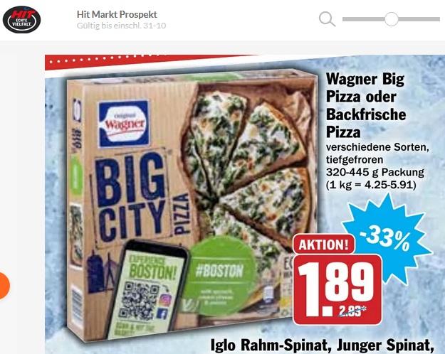 [Wagner] Big City oder Die Backfrische 2 Stück für ab 2,78€