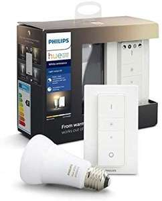 Philips Hue White Ambiance Light Recipe Kit: 1x E27 White Ambiance Bluetooth (alle Weißtöne) + Dimmschalter