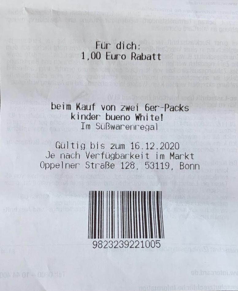Lokal - Bonn Kaufland - kinder bueno White! 6er Pack