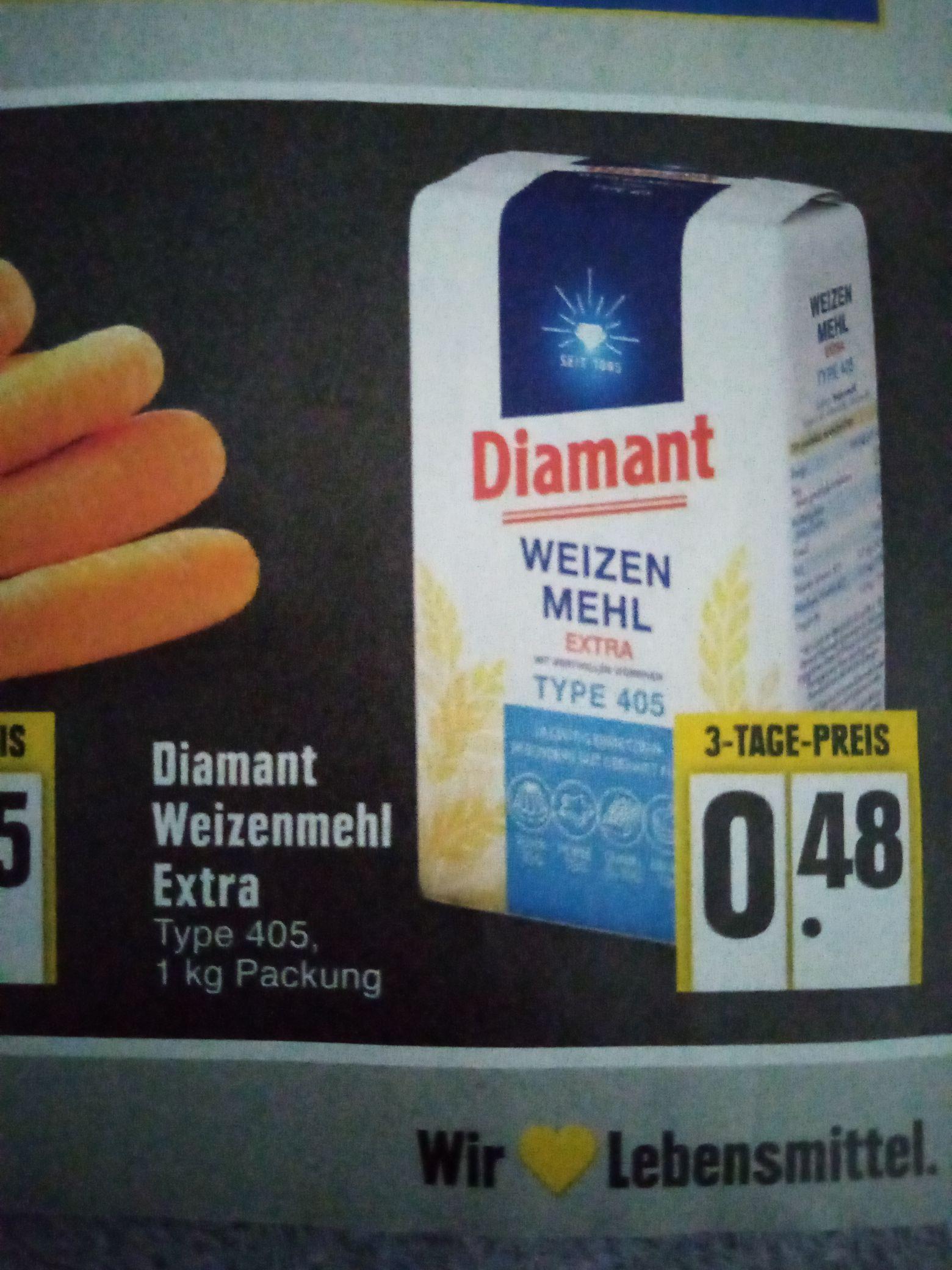( Edeka Neuss) Diamant Weizenmehl für nur 0,48€
