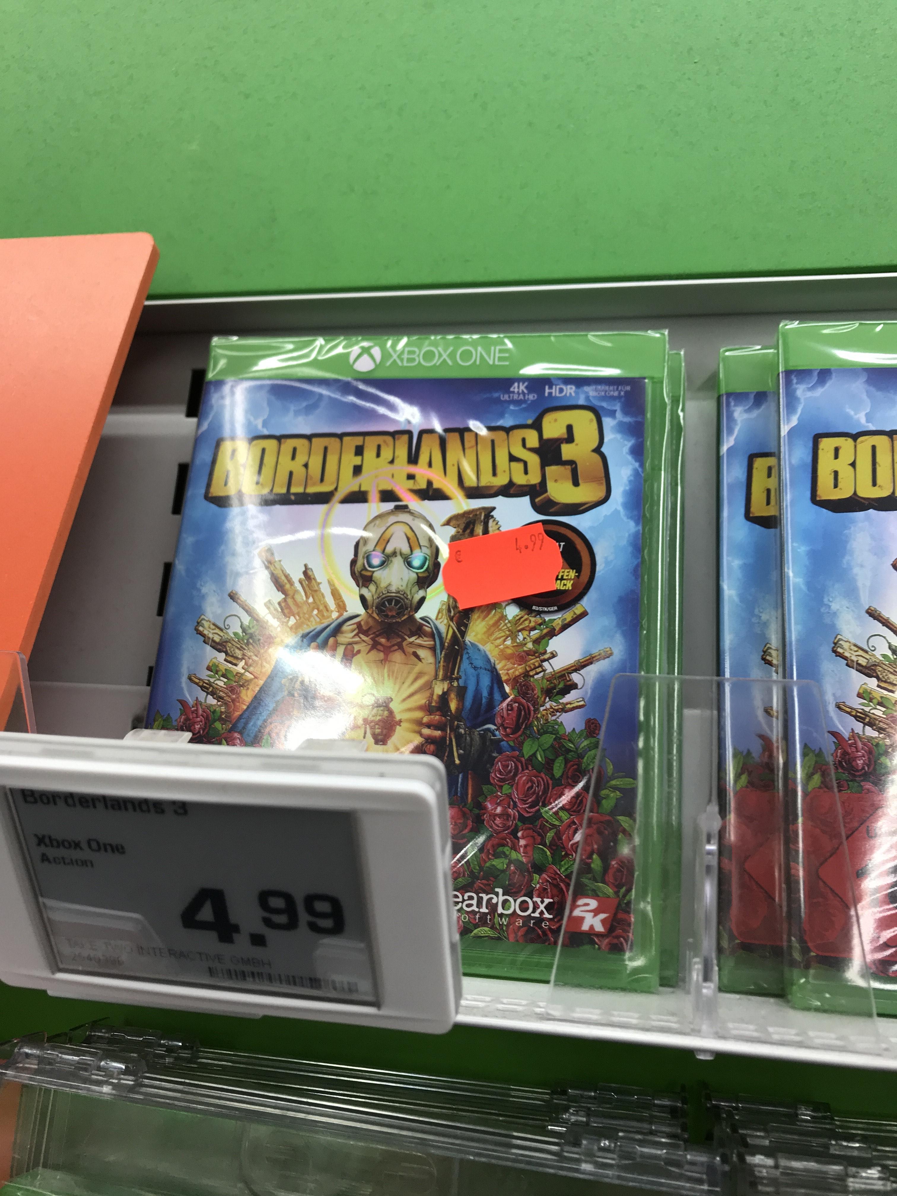 Lokal - Saturn Hilden: Borderlands 3 für XBox One für 4,99€
