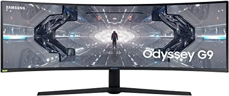 SAMSUNG Odyssey G9 (C49G94TSSU) 49 Zoll WQHD Gaming Monitor (1 ms Reaktionszeit, G-SYNC kompatibel, 240 Hz)