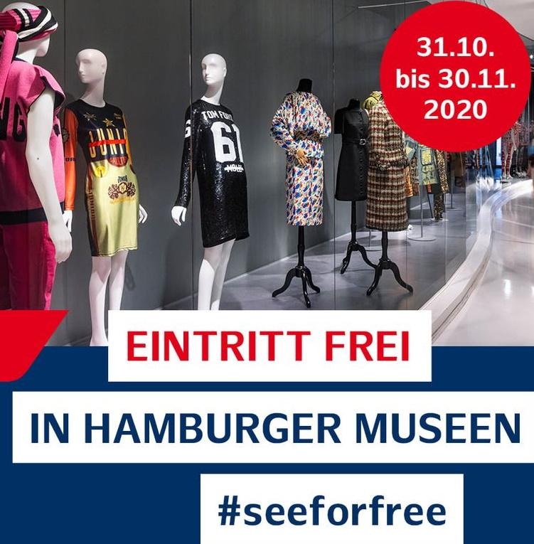 [lokal Hamburg] Freier Eintritt in 21 Museen ab dem Reformationstag (31.10. - 30.11.20)