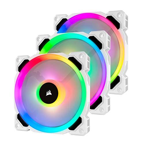 Corsair LL120 RGB LED PWM Lüfter W/B mit Lighting Node+Hub