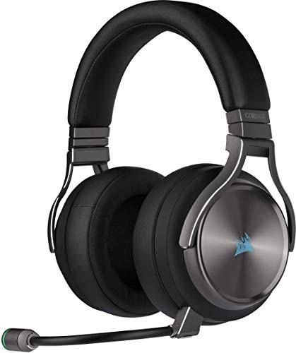 Gaming Headset Corsair Virtuoso RGB Gunmetal (Wireless High-Fidelity, Slipstream Technologie, 7.1 Surround Sound, iCUE RGB)