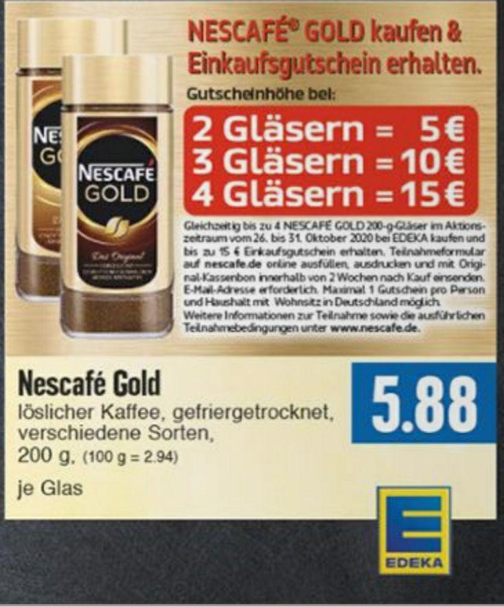 [EDEKA] Nescafé Gold Kaffee Einkaufsgutschein-Aktion Lokal?
