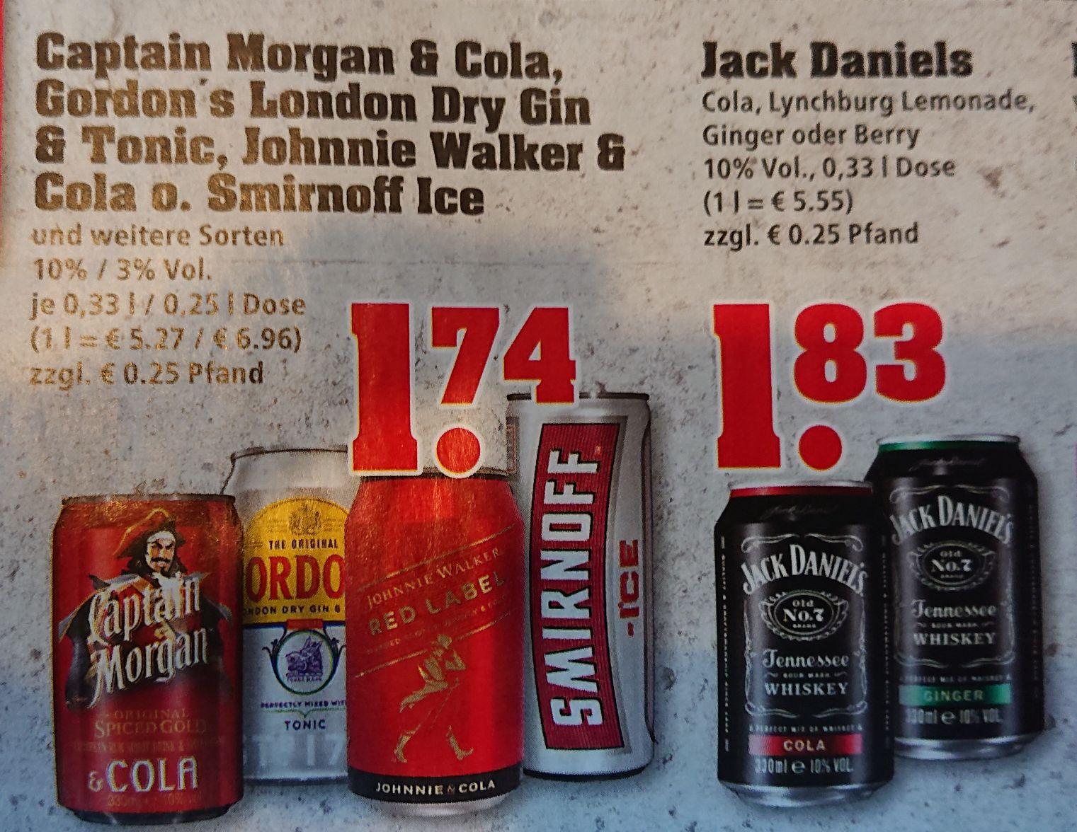 Smirnoff Ice / Captain Cola 1,74 € | Jack Daniel's (Daniels) Cola 1,83 € [trinkgut] [26. - 31.10.]