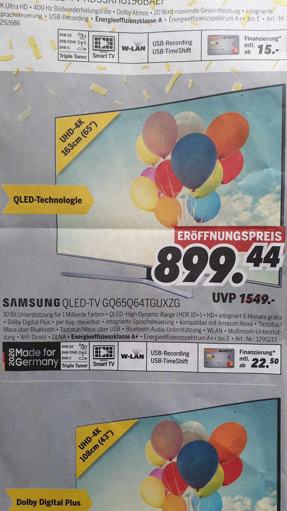 Lokal Duderstadt, Jena, Halberstadt, Sangerhausen Samsung QLED-TV GQ65Q64TGUXZG