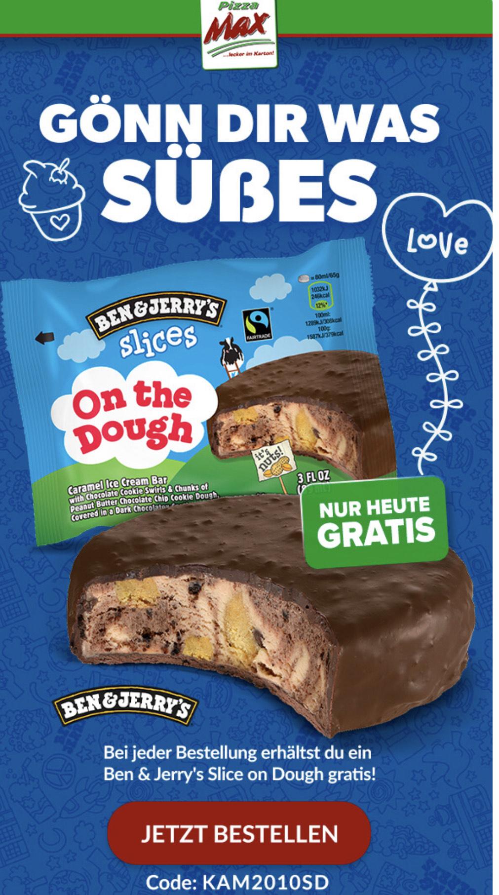 Zu jeder Bestellung - Gratis Ben & Jerry Slices On The Dough