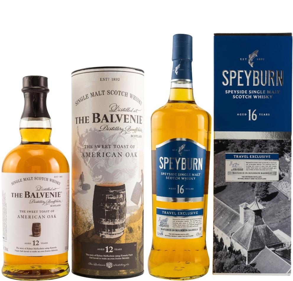 Whisky-Übersicht #53: z.B. Balvenie 12 Jahre American Oak für 48,90€, Speyburn 16 Jahre Speyside Single Malt (1 l) für 43,00€ inkl. Versand