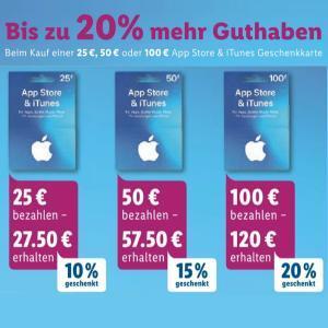 [Rossmann] Bis zu 20% extra Guthaben für Apple AppStore & iTunes Geschenkkarten