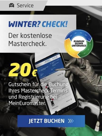 Kostenloser Euromaster Fahrzeug Check + 20€ Gutschein