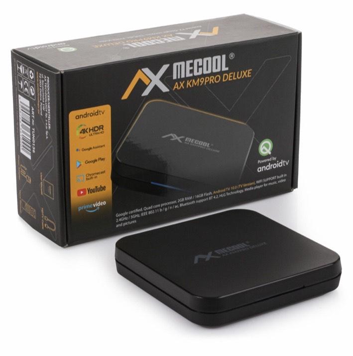 4K UHD AndroidTV 10.0 IPTV Streaming Box, Google zertifiziert uvm.