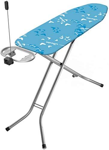 (Amazon personalisiert) Vileda Bravo Plus Bügelbrett mit Bügelfläche 120 x 38 cm, Steckdose und Kabelhalter