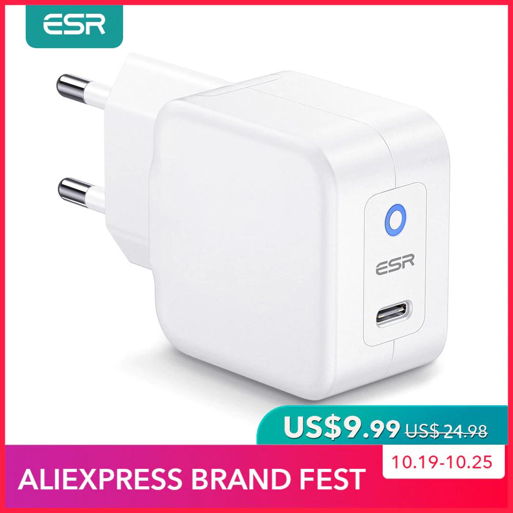 ESR kompakter 20W PD Charger USB C Ladegerät für iPhone und andere Smartphones