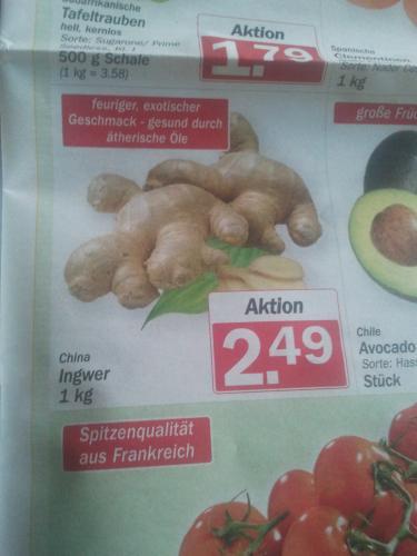 Hit: Ingwer für 2,49€/Kilo