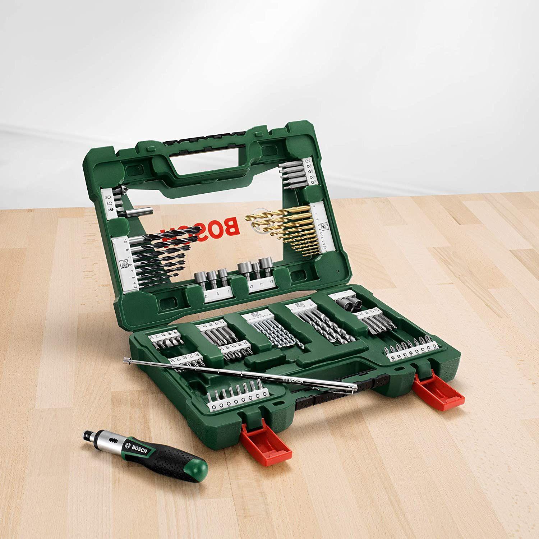 Bosch 91tlg. Titanium-Bohrer & Bit-Set V-Line (für Holz, Stein & Metall, Schraubendreher & Magnetstab) // 83tlg. 12,18€ // 43 tlg. 10,36€